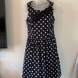 Lauren Conrad Black & White Polka Dot Dress size 6
